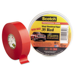 "Scotch Scotch 35 Vinyl Electrical Color Coding Tape, 3/4"" x 66ft, Red"