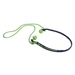 Moldex Jazz Band Banded Hearing Protector, 25NRR, Bright Green/Blue, 10 Pairs
