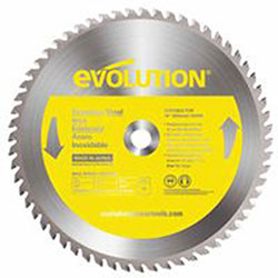 Evolution TCT Metal-Cutting Blades, 14 in, 1 in Arbor, 1,600 rpm, 90 Teeth