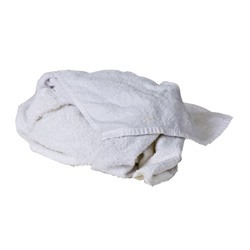 A&B Wiper Supply 30 oz . White Terry Bar Cloth, 16 in x 19 in