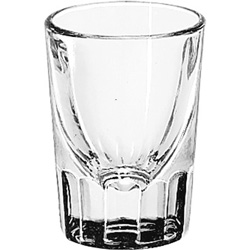 Libbey Whiskey Service Drinking Glasses, Fluted Shot Glass, 1-1/2oz, 2-7/8 inH, 48/CT