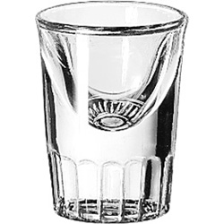 Libbey 5138 1 Ounce Fluted Whiskey Glass