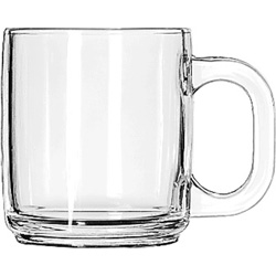 Libbey Crystal Coffee Mug, 10oz, Case of 12