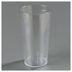 Carlisle Foodservice Products 12 Oz Hot/Cold Plastic Tumblers, Clear, Pack of 72