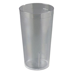 Carlisle Foodservice Products Plastic Tumbler, 16 OZ, Clear