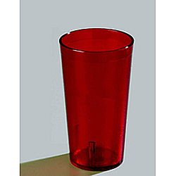 Carlisle Foodservice Products 16 Oz Hot/Cold Plastic Tumblers, Red, Pack of 72