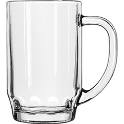 Libbey Thumbprint Beer Stein, 19.5 Oz
