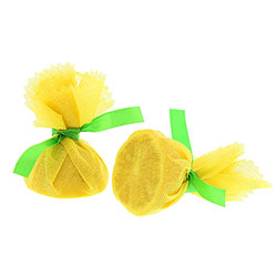 Royal   Lemon Wrap with Green Ribbon, Case of 4