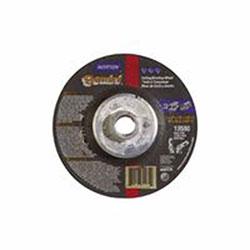 Norton Gemini Cut-Off Wheel, Type 27, 4 1/2 in Dia, 1/4 in Thick