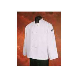 Hi-Lite Uniform Chef Coat, Poly/Cotton, White, Large