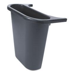 Rubbermaid Saddle Basket Recycling Bin, Rectangular, Black