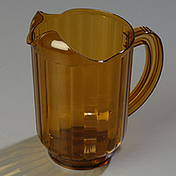 Carlisle Foodservice Products Amber VersaPour Polycarbonate Pitcher, 60 Ounce