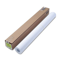 HP Designjet Bright White Inkjet Paper, 4 mil, 36 in x 150 ft, White
