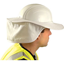 Occunomix Hard Hat Shades, White, For Most Regular Hard Hats