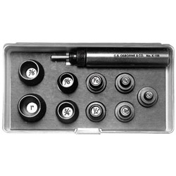 C.S. Osborne 9 Piece Self Centering Punch Set