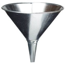 Plews 2 Qt Galvanized Steel Marine Funnel