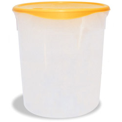 Rubbermaid White Round Storage Container with Metal Handle