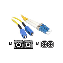 Cables To Go Patch Cable - LC Single Mode (M) - SC Single Mode (M) - 10' - Fiber Optic - 9 / 125 Micron - Yellow