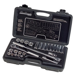 "Blackhawk™ By Proto® Socket Set 26 Piece 1/2"" Drive 6 Point Standard Deep SAE"