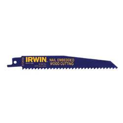 "Irwin 12"" Reciprocatingsaw Blade 6 TPI 5 Pack"