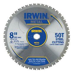 Irwin 50T Metal Cutting Saw Blade, Ferrous Steel, 8in