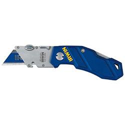 Irwin Folding Knife, 5 3/4in, Stainless Steel/Aluminum, Blue