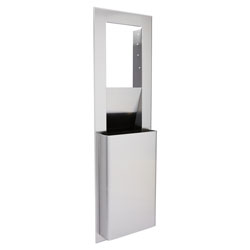 enMotion Stainless Steel Recessed Trash Receptacle for 16 Inch Cavities