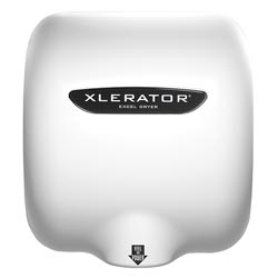 Excel XLERATOR® Hand Dryer 208-277V, White Epoxy Painted, Noise Reduction Nozzle