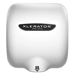 Excel XLERATOR® Hand Dryer 208-277V, White Thermoset Resin, Noise Reduction Nozzle