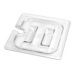 Cambro 60CWCHN Clear 1/6 Size Lid for Camwear Food Pans with Handle & Notch