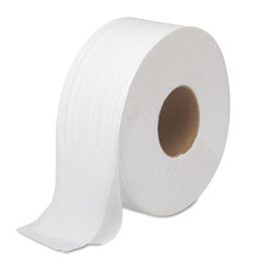 Boardwalk JRT Bath Tissue, Jumbo, Septic Safe, 2-Ply, White, 3.5 in x 1000 ft, 12 Rolls/Carton