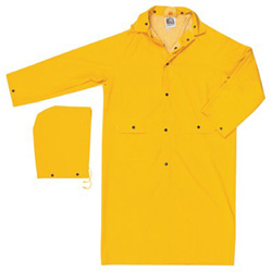 "River City CLASSIC- .35MM- PVC/POLYESTER- 49"" COAT- YELLOW"