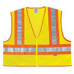 "River City Poly Mesh Safety Vest 4-1/2"" Orange/sil"