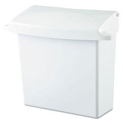 Rubbermaid Wall Mount Sanitary Bag Receptacle, White