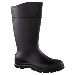 "Servus 16"" black Knee Boot PVC Angle Cleated Sole w/Plai"