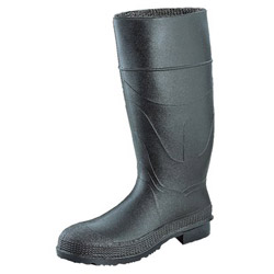 "Servus 16"" Black PVC Knee Bootsw/Plain Toe"