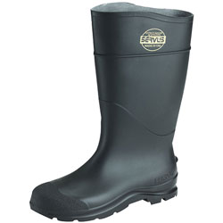 "Servus 16"" Black Knee Boot PVC Cleat Sole Plain"