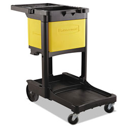 Rubbermaid Locking Cabinet, For Rubbermaid Commercial Cleaning Carts, Yellow