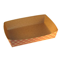 SQP 8.5x5.5x2 in Kraft Plaid Carry Tray