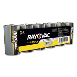 Rayovac Ultra Pro Alkaline Batteries, D, 6/Pack