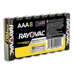 Rayovac Ultra Pro Alkaline AAA Batteries, 8/Pack