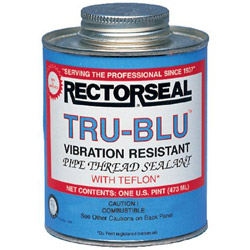 "Rectorseal Tru-blu 1/2"" Point Btc Pipe Thread"