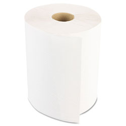 Boardwalk Hardwound Paper Towels, Nonperforated 1-Ply White, 350 ft, 12 Rolls/Carton