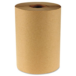 Boardwalk Hardwound Paper Towels, 8 in x 350ft, 1-Ply Natural, 12 Rolls/Carton