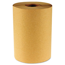 Boardwalk Hardwound Paper Towels, Nonperforated 1-Ply Natural, 800 ft, 6 Rolls/Carton