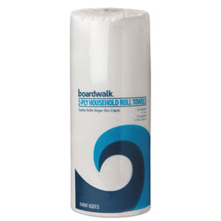 Boardwalk Paper Towel Rolls, Perforated, 2-Ply, White, 85 Sheets/Roll, 30 Rolls/Carton