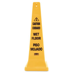 Rubbermaid Yellow Four Sided Safety Cone