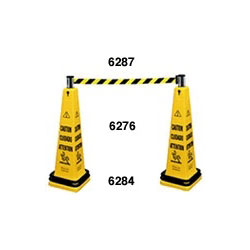 Rubbermaid Cone Barricade System Consists of: 6276, (1) Belt Cassette and (1) Double Weight Ring