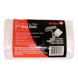 Red Devil 2-mil. 9' x 12' Plastic Drop Cloth