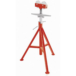 "Ridgid RJ-99 High Pipe Stand, 32"" to 55"" High, Red"